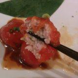 大阪市北区「かわず」のトマトギョーザ